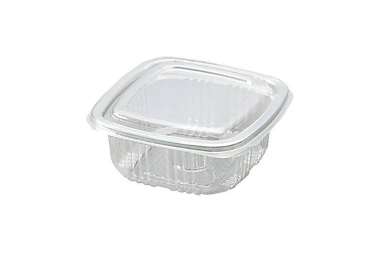 plasticne kutije za pakovanje hrane PET-250-cetvrtasta