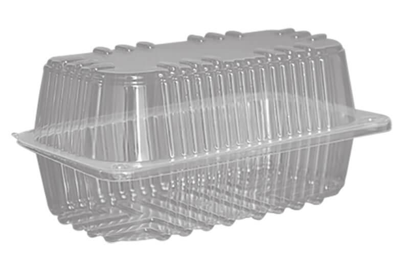 Plastične posude za kolače pravougaonog oblika sa poklopcem